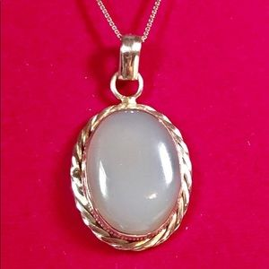 Sterling Blue Chalcedony Necklace